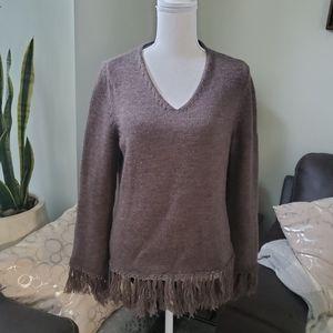 Alexandra Bartlett fringe bottom sweater